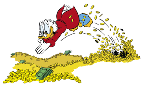 Bildresultat för scrooge mcduck money diving