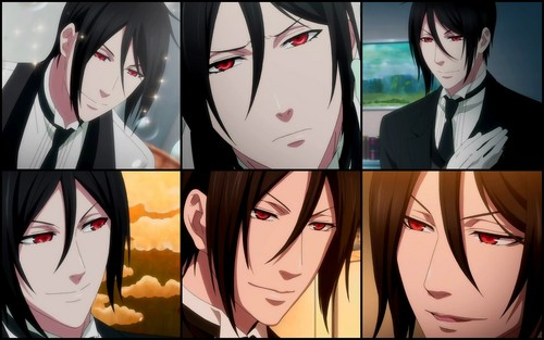 Sebastian Michaelis wallpaper with a stained glass window titled Sebastian -Book of Circus