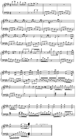 Sheet Music - Victor's Theme