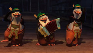 Skipper, Kowalski, and Rico.