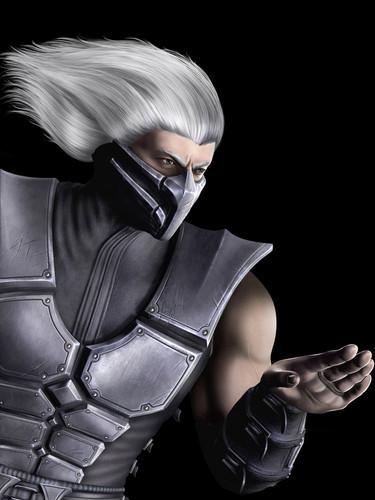 Mortal Kombat kertas dinding called Smoke