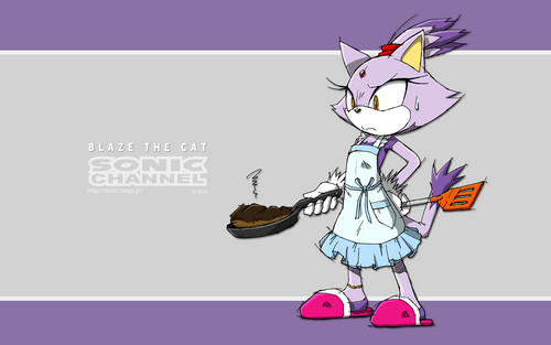 Blaze the Cat wallpaper possibly with anime called Sonic Channel - 8/20/14