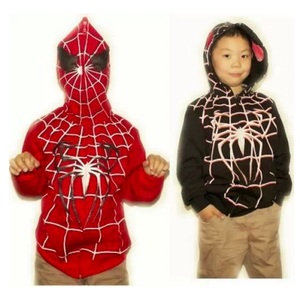 Spider-man cosplay hoodie child version.