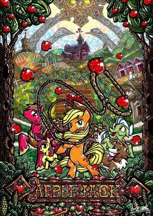 Stained Glass Ponies