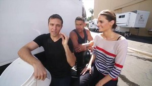 Stana,Jon and Seamus-BTS season 7