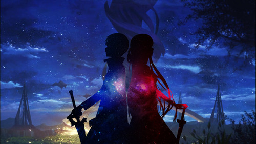 Sword Art Online wallpaper probably containing a concert called Starry Night