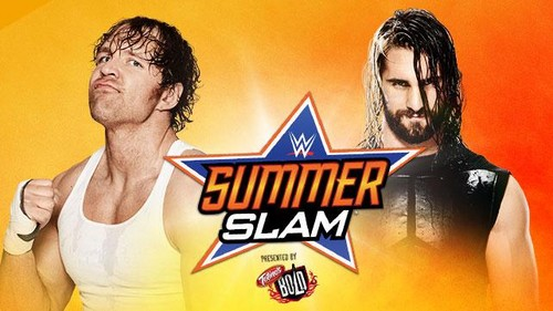 The Shield (WWE) wallpaper probably containing anime entitled Summerslam: Dean Ambrose vs Seth Rollins
