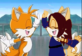 Tails and Flower - sonic-fan-characters-recolors-are-allowed photo