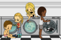 Team Arrow goes to the laundromat