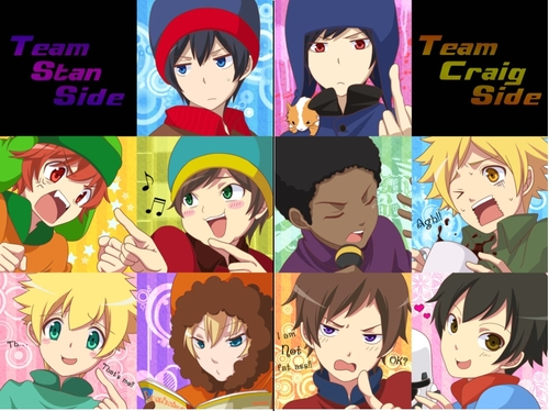South Park hình nền possibly with a stained glass window and anime titled Team Stan/Team Craig
