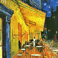 vincent van gogh images terrasse du caf le soir photo. Black Bedroom Furniture Sets. Home Design Ideas