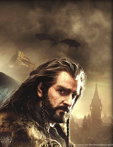 द हॉबिट वॉलपेपर containing a आग titled The Hobbit: The Battle of the Five Armies - Thorin Oakenshield