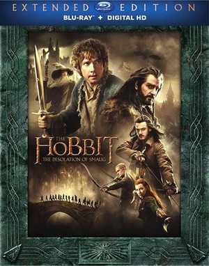 The Hobbit: The Desolation of Smaug - Blu-Ray cover