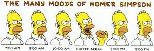 The Many Moods of Homer Simpson