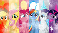 The mane 6 - my-little-pony-friendship-is-magic wallpaper
