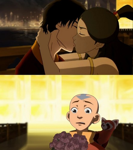 Avatar The Last Airbender kertas dinding titled This kiss..