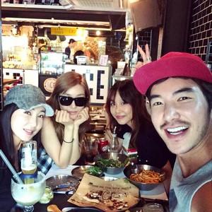 Tiffany with her friend Woori Kim