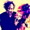 Tim burton bức ảnh possibly containing a portrait and anime titled Tim burton and Helena Bonham Carter