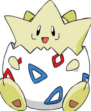 Togepi!!!!!!! Togepi loves Mason too!