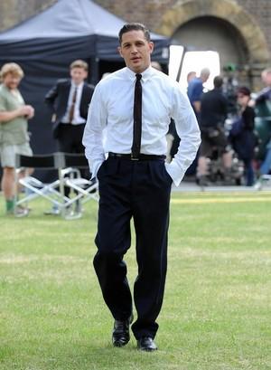 Tom Hardy Films 'Legend'
