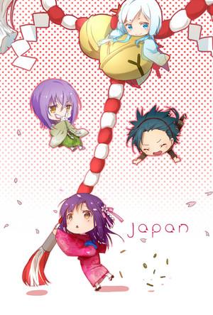Tsukito, Akira, Takeru, and Yui from Kamigami no Asobi