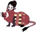 Vanellope dressed as Pumbaa 3 - disney fan art