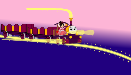 Thomas the Tank Engine achtergrond titled Vanellope guided Lady in the Sunrise of Dawn
