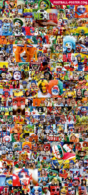 WORLD CUP FANS poster