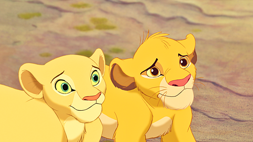Classic Disney kertas dinding entitled Walt Disney Screencaps - Nala & Simba