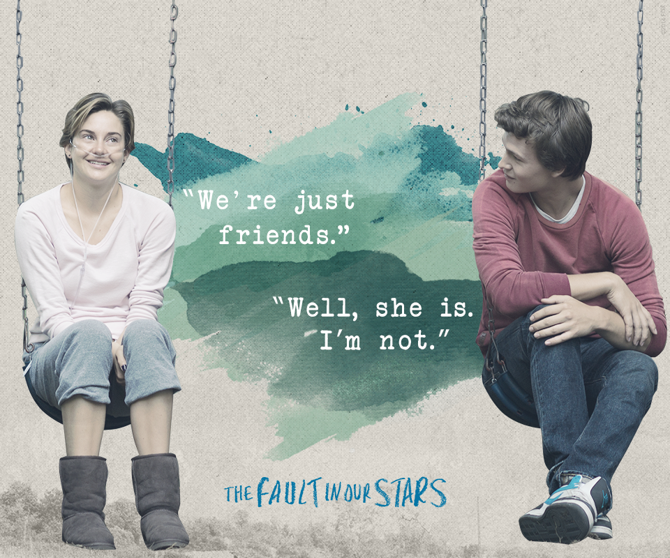 We Re Not Friends Quotes: The Fault In Our Stars Images We're Just Friends... Hahaha