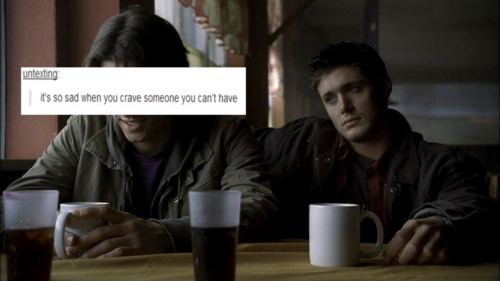 Wincest wallpaper probably with a coffee break entitled Wincest Tumblr Post