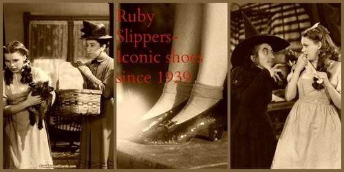 オズの魔法使 壁紙 probably containing a 通り, ストリート called Wiz of Oz/ Ruby Slippers tribute collage