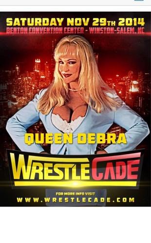 Former WWE Diva... Debra achtergrond with anime entitled WrestleCade 2014