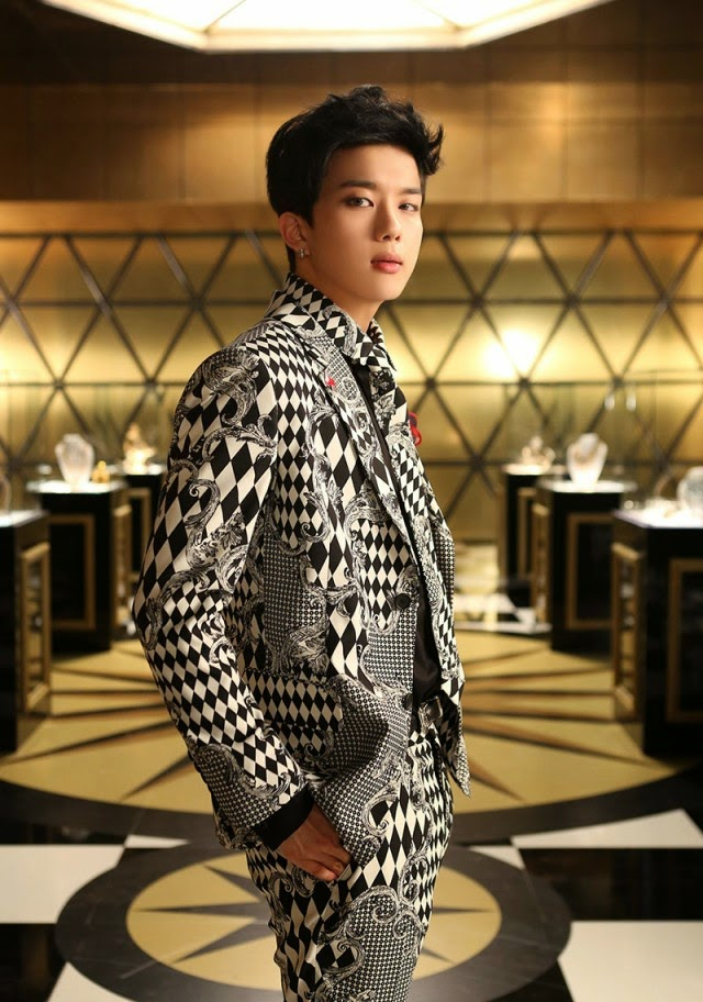 Youngjae's jacket photo for 4th Japanese single 'Excuse Me'