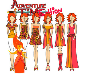 adventure time fashion_flame princess