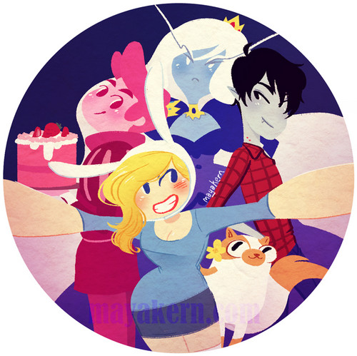 fiolee (fionna e marshal lee) wallpaper called adventure time