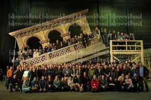 'Fallen' cast members on set
