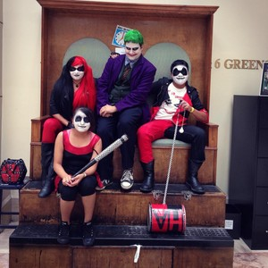 harley squad with joker cosplay