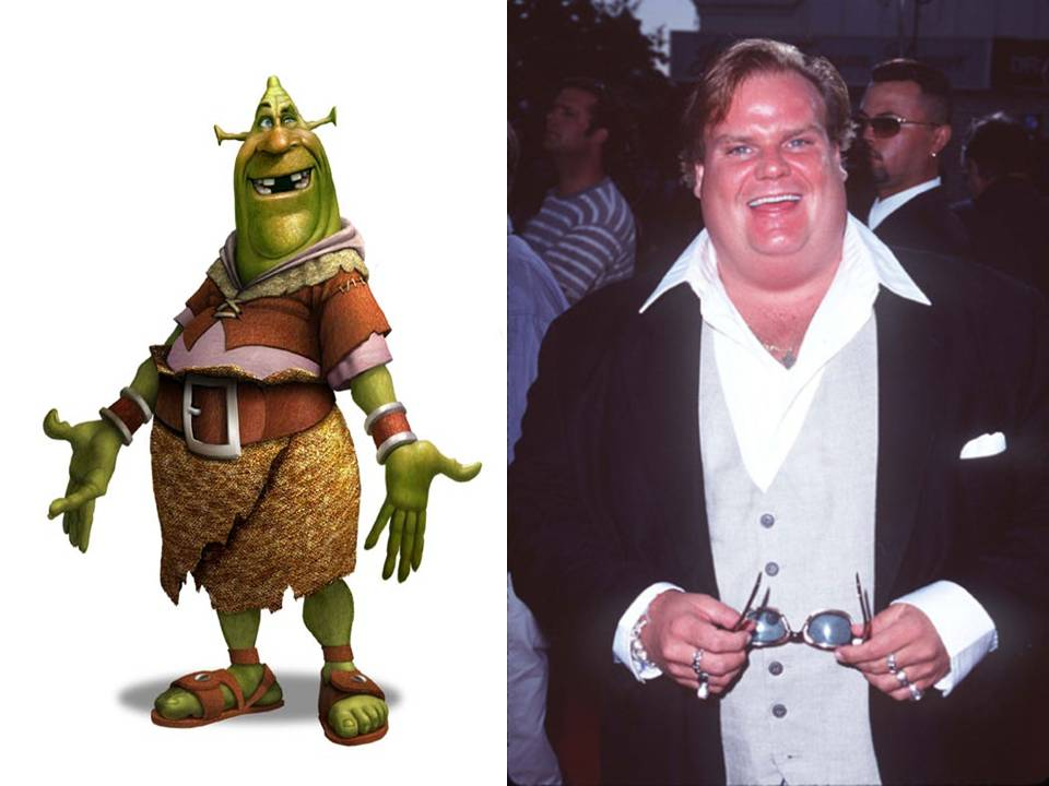 how shrek looked when chris was his voice actor