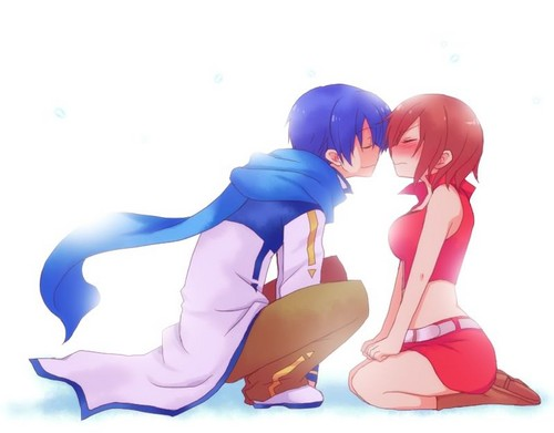 Vocaloids wallpaper entitled kaito and meiko
