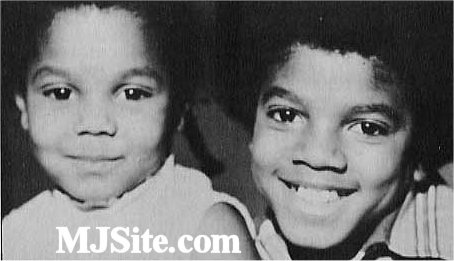 Michael Jackson wallpaper with a portrait titled little Janet and Michael