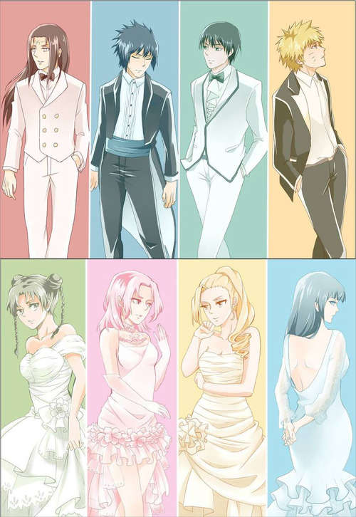 Neji and Tenten, Sasuke and Sakura, Saï and Ino, नारूटो and Hinata