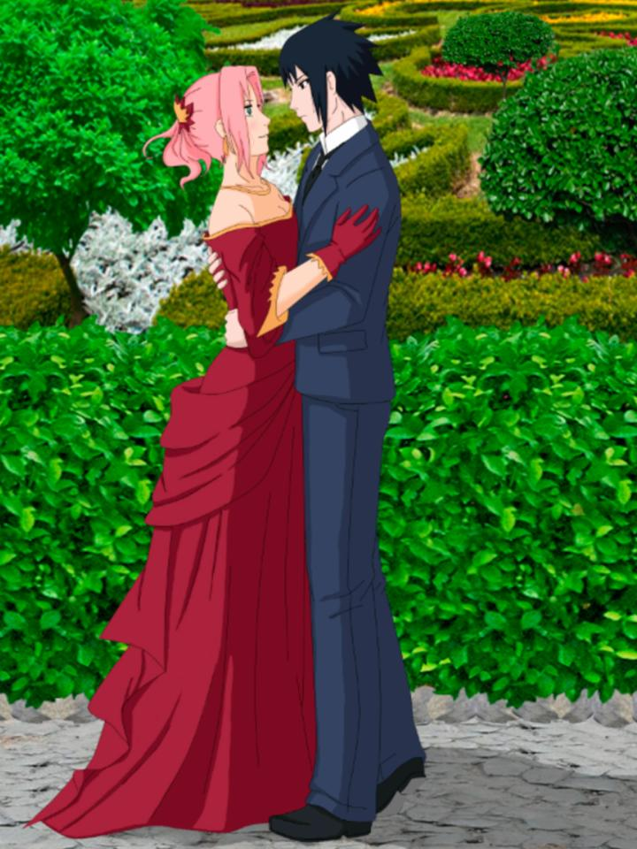 saskue and sakura wedding