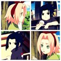 saskuew and sakura child hood play - sasuke-and-sakura fan art