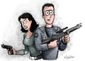 sci fi cartoon - cartoon-drawing photo