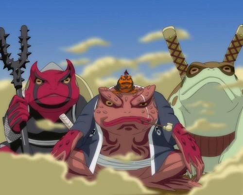 Uzumaki Naruto (Shippuuden) Hintergrund possibly with Anime called toad summons