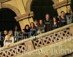 'Fallen' cast members on set