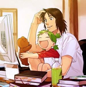 yotsuba with dad
