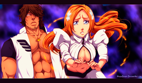 anime bleach wallpaper probably containing anime titled *Chad / Orihime*
