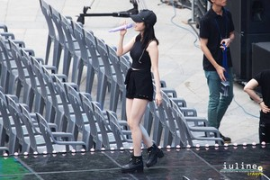 "IU rehearsing before her ""Someday"" concert back in August"